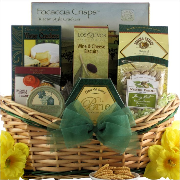 25 unique charcuterie gift basket ideas on pinterest tempting easter cheese delights gourmet cheese gift basket negle Choice Image