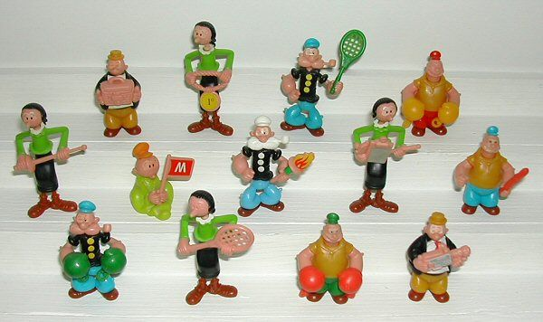 My Collection : Popeye Kinder Cartoon Figures