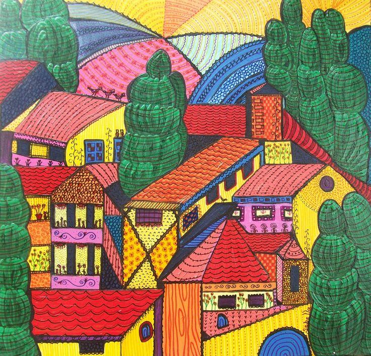 Cosy houses.