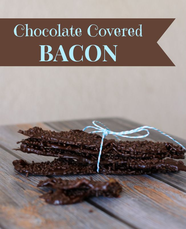 Chocolate Covered Bacon....only 4 ingredients and perfect for a decadent dessert or holiday gift.