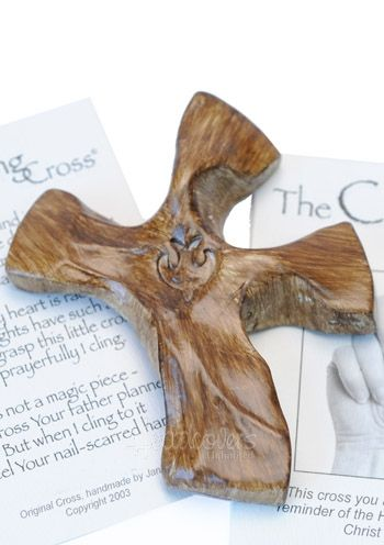 Clinging cross... designed to hold in the hands and cling to. It's a thoughtful gift for a cancer patient, or anyone going through challenges in life.