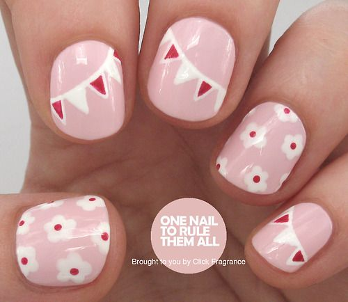 onenailtorulethemall:  May Day Nails Tutorial in collaboration...