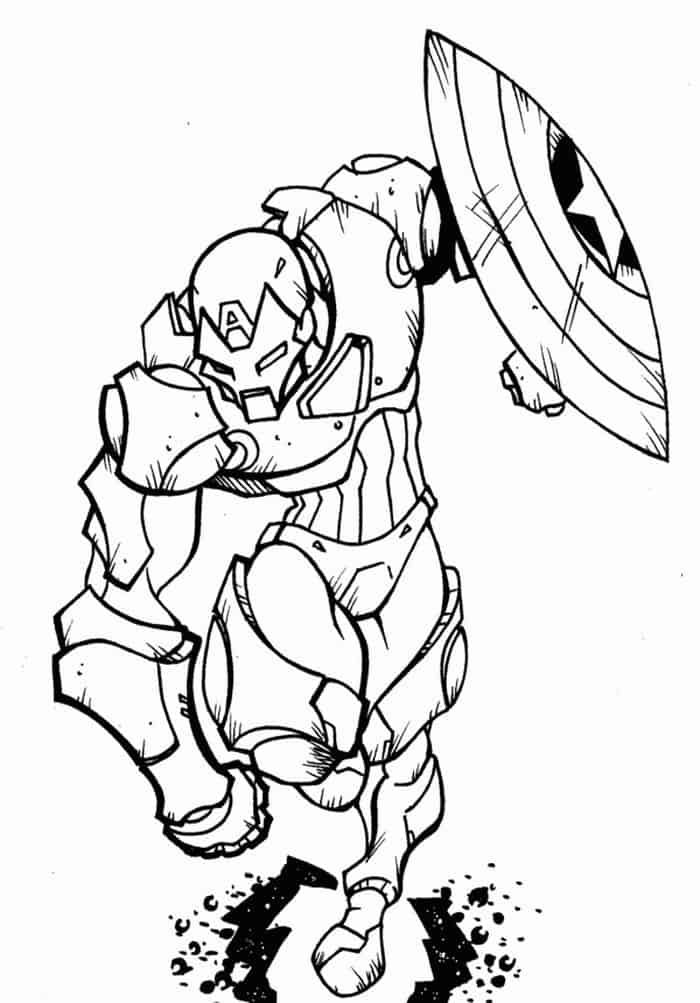 Coloring Pages Captain America Iron Man Captain America Coloring Pages Avengers Coloring Pages Avengers Coloring