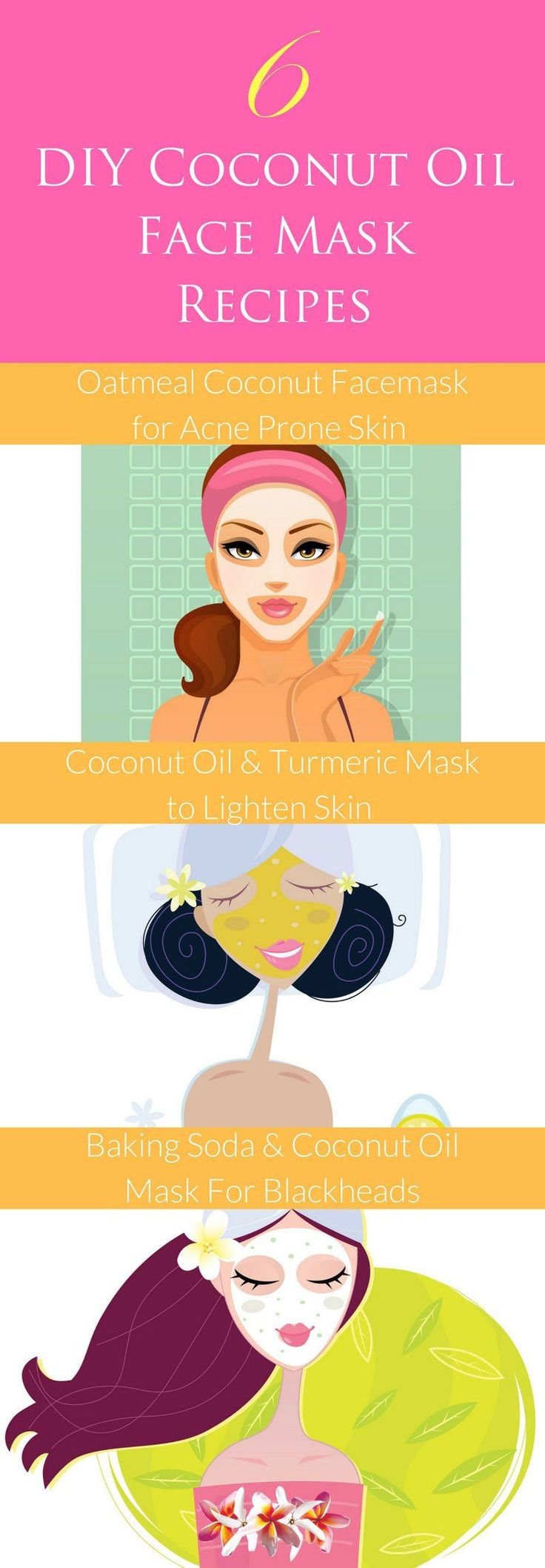 Here are 6 DIY coconut oil face mask recipes for you to try that are sure to leave your skin soft, supple and radiant.