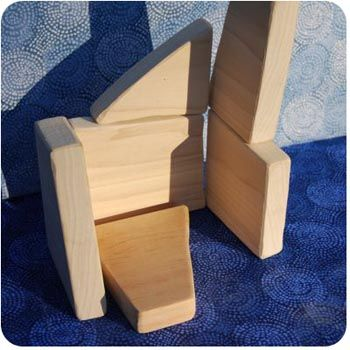 Make Your Own Building Block Set - DIY: Check out the scrap bin of your local lumber yard.
