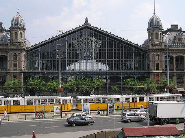 Gustave Eiffel, Railway station, Budapest, Hungary, 1877