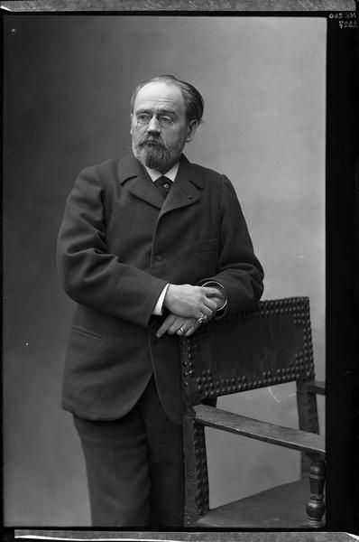 Emile Zola. Photographe Nadar, 1898