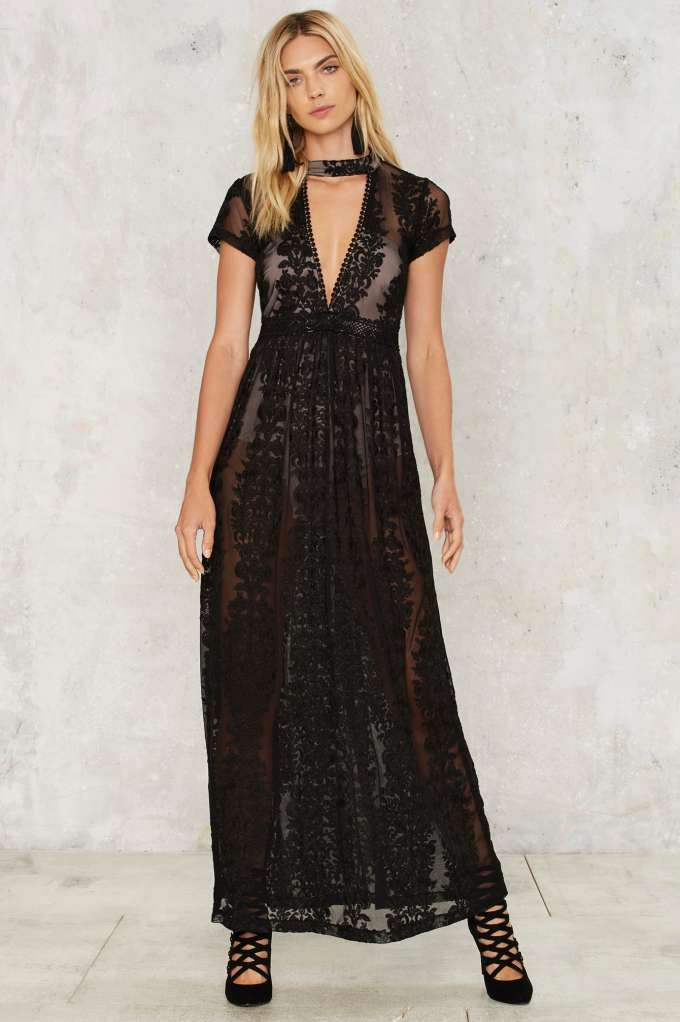 Turn the Trick Lace Maxi Dress | Shop Product at Nasty Gal!
