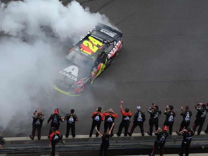 jeff gordon brickyard 400 | Jeff Gordon wins the Brickyard 400 NASCAR race July 27, 2014 at The ...