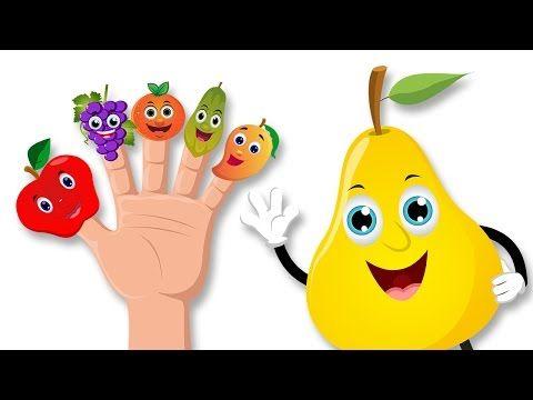(4) Frutas dedo de la familia Rima | Dedo de la familia rimas en español - YouTube