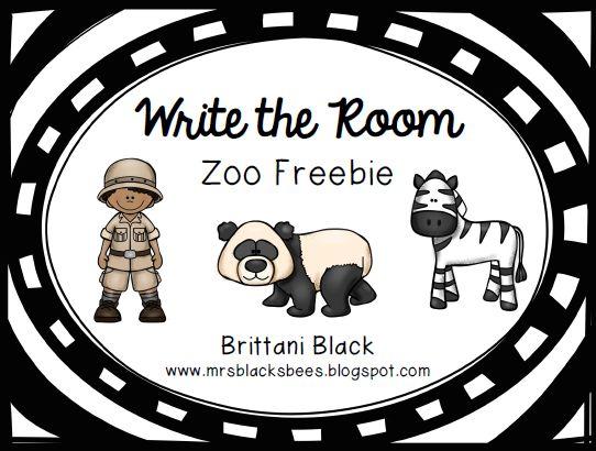 Write the Room~ Zoo Themed FREEBIE