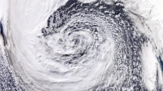 Look: Monster Storm in the Atlantic Right Now
