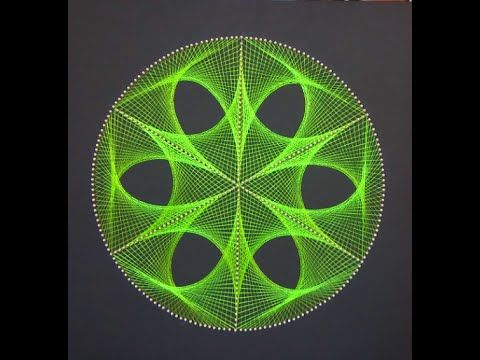 String Art Patterns - How To Make String Art Triangle Pattern - by Sonia Goyal - YouTube
