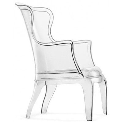 Phantom transparent wingback chair