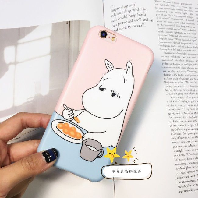 Moomin Cartoon Cute Hippo Funny Creative Soft Case Cover For iPhone 6 6S 6S Plus #NGreen