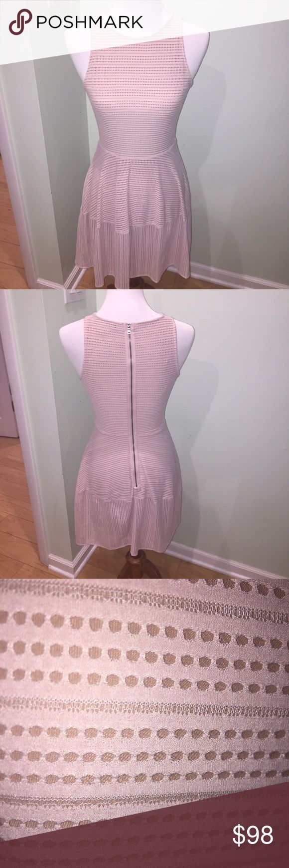 EUC BCBG Sz XS peachy nude party dress super fun and flirty BCBG dress... nude/peachy color... XS but may fit S too. Worn once and dry cleaned. BCBG Dresses Mini
