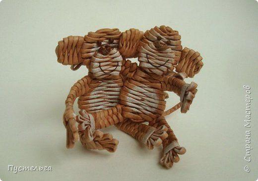 Мастер-класс Поделка изделие Плетение Обезьянки-неунывайки к Новому году Трубочки бумажные фото 20