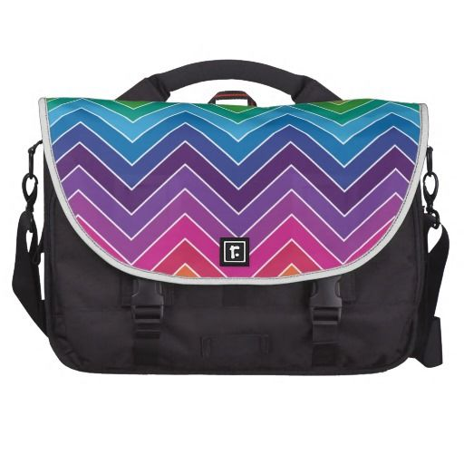 Rainbow Chevron Pattern Modern gifts Computer Bag