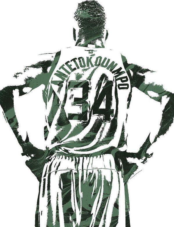 Giannis Antetokounmpo Milwaukee Bucks Pixel Art 3 Print By Joe Hamilton