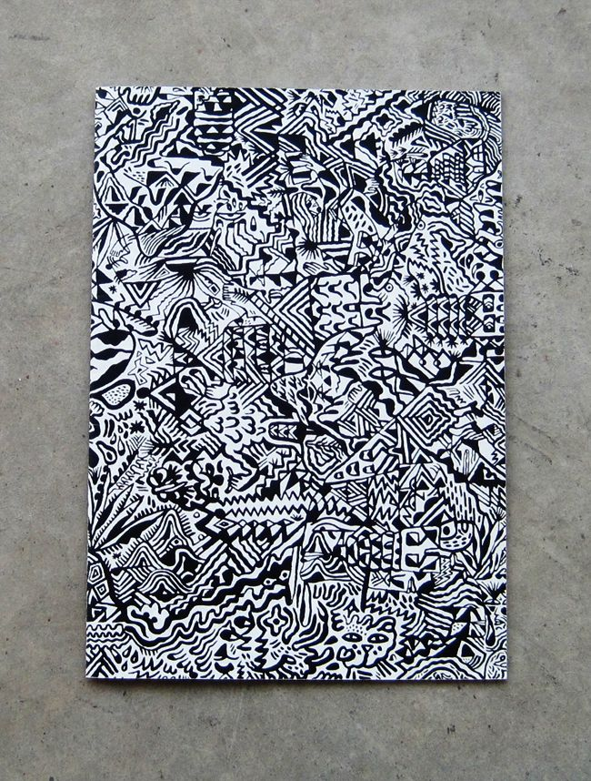 """Glamour Banner / by Sumi Ink Club, 2009. """"Glamour Banner is a single large drawing made by the Los Angeles-based chapter of Sumi Ink Club, broken into a series of actual-size details."""""""
