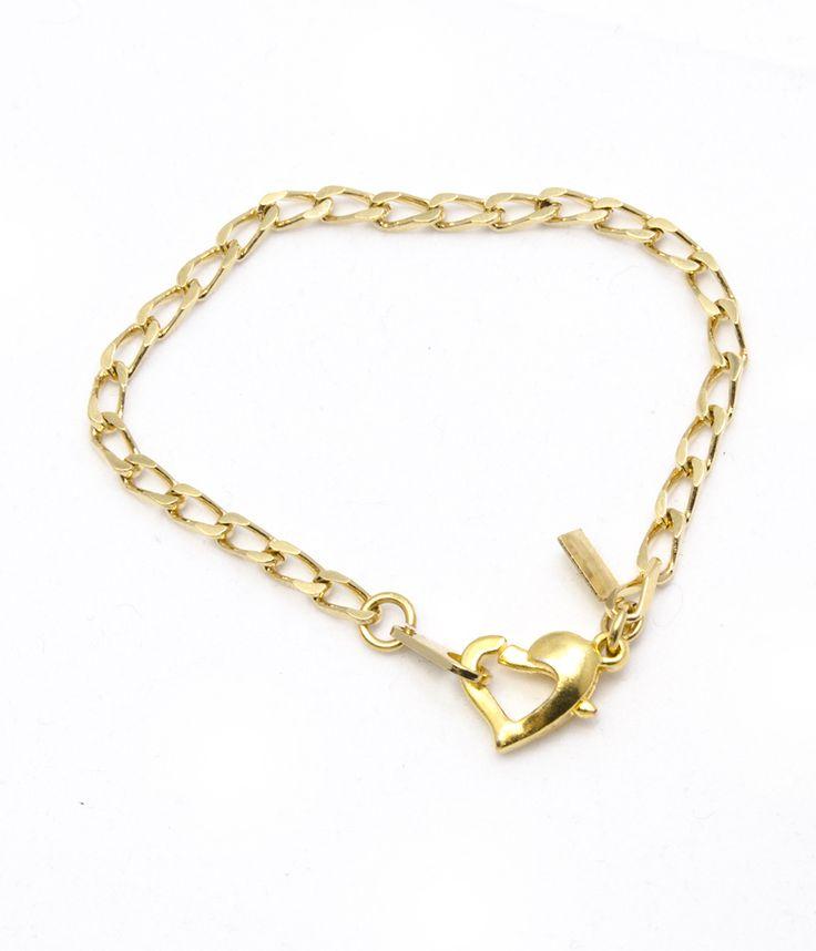 Heart Clasp Baby Bracelet - BRG0038 - $119 AUD