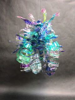 Spot of Color: 5th Grade Dale Chihuly Inspired Chandeliers