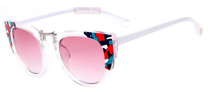 Multi-Color Edges Cool Cat Sunglasses