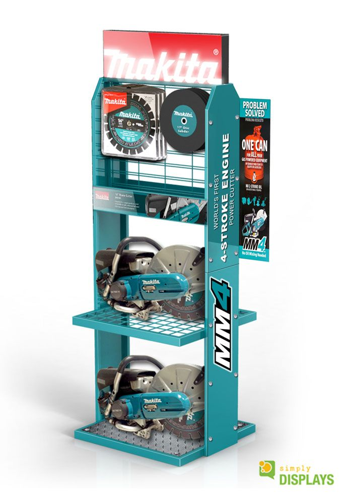 Hardware and Tool Displays, Sheet Metal and Wire Freestand