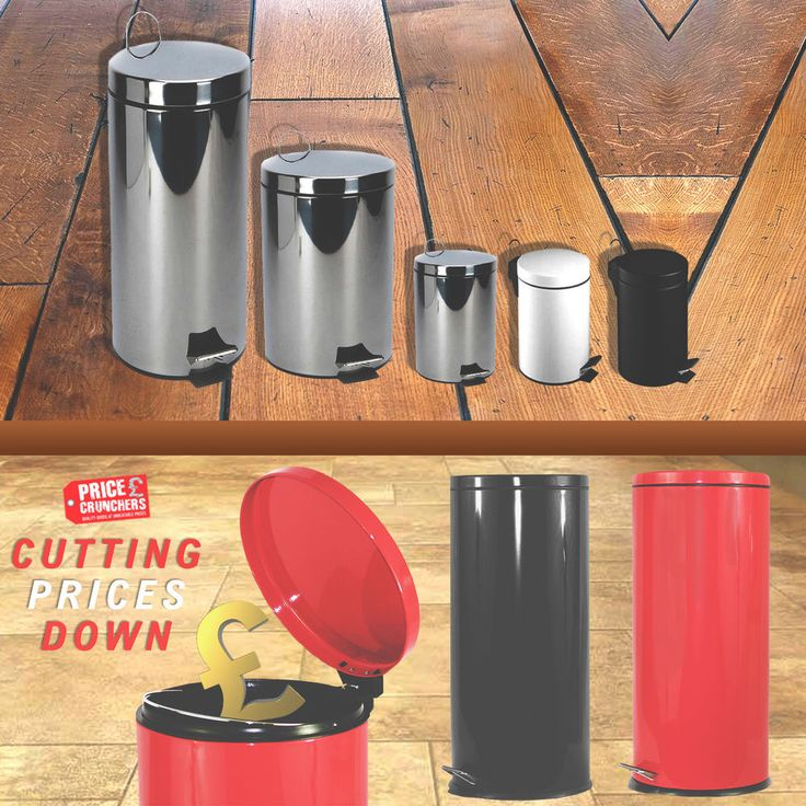 3L, 5L, 20L, 30L Steel Waste Rubbish Kitchen Bathroom Pedal Bin -Various Colours #HIGHLANDS