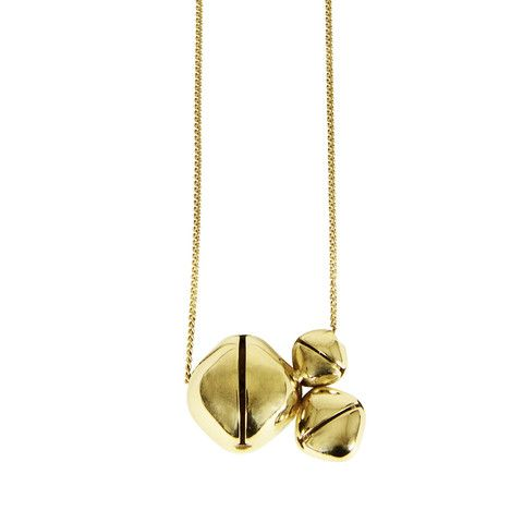 INA BEISSNER Bells Trio Gold Necklace – KAVUT
