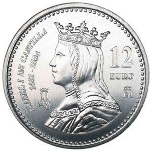 Moneda conmemorativa 12 euros 2004., Tienda Numismatica y Filatelia Lopez, compra venta de monedas oro y plata, sellos españa, accesorios Leuchtturm