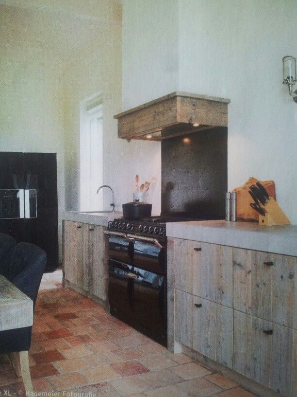 Stoere houten keuken!