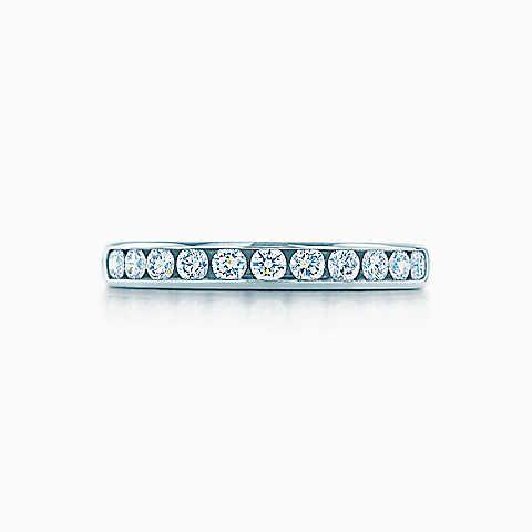 Tiffany® Diamond Wedding Band in platinum, 3 mm wide.