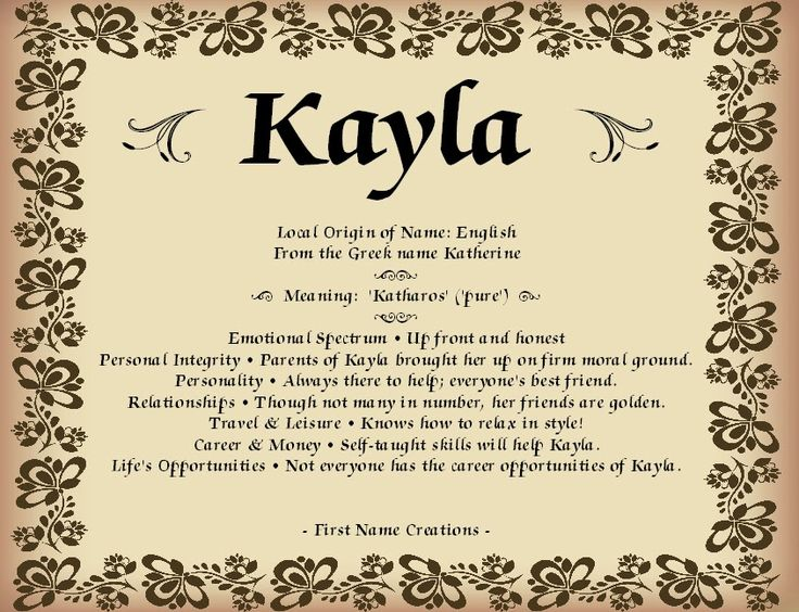 Kayla Name Meaning - First Name Creations