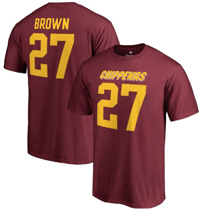 Antonio Brown Cent. Michigan Chippewas Fanatics Branded College Legends T-Shirt - Maroon