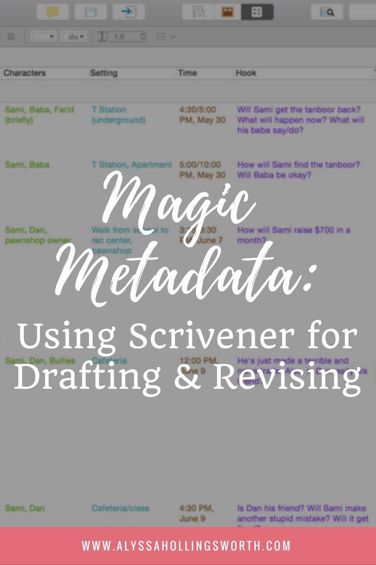 Magic Metadata: Using Scrivener for Drafting and Revising