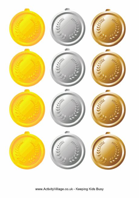Olympic Medal Printables for summer olympic programs