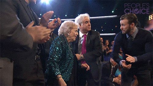 """""""Chris Evans Escorting Betty White Will Melt Your Cold Winter Heart"""" this was the sweetest thing ever. Chris IS Captain America."""