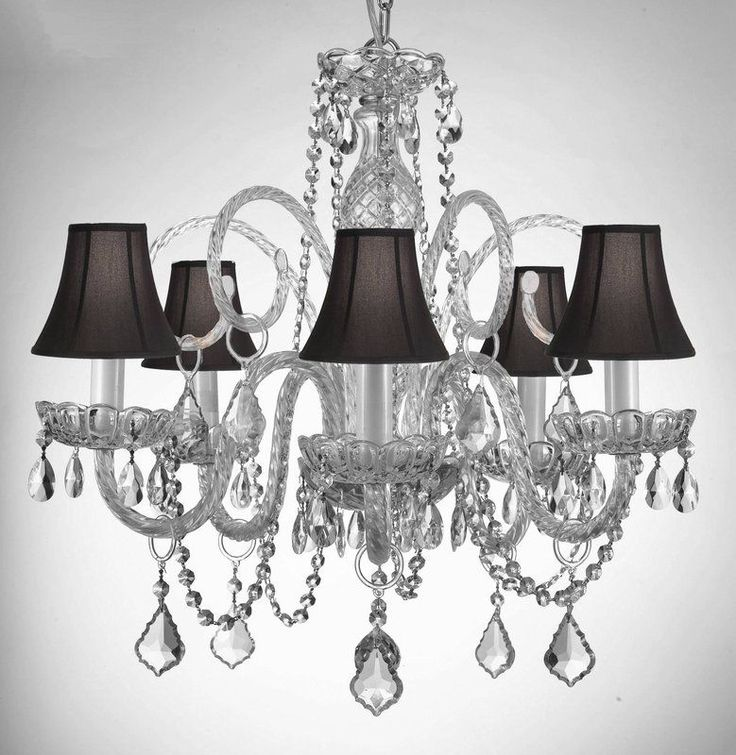 Gallery 5 Light 1 Tier Murano Venetian Style All-Crystal ❤ liked on  Polyvore featuring home, lighting, ceiling lights, black,