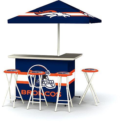 NFL Denver Broncos Portable Bar with Stools