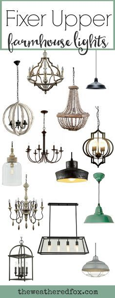 Add Fixer Upper Style with these inexpensive farmhouse light fixtures. Browse over 30 light fixtures, most under $200! Joanna Gaines light fixtures have 5 basic styles. Check out what type of light fixtures joanna puts in her homes.