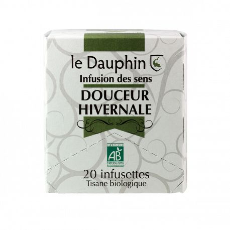 """Tisane bio """"Douceur hivernale"""" - Boite 20 infusettes - Le dauphin"""