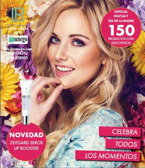 La portada del catálogo de LR Health & Beauty, correspondiente al mes de abril de 2017.