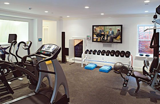 trucs pour cr er son gym la maison salles de sport. Black Bedroom Furniture Sets. Home Design Ideas