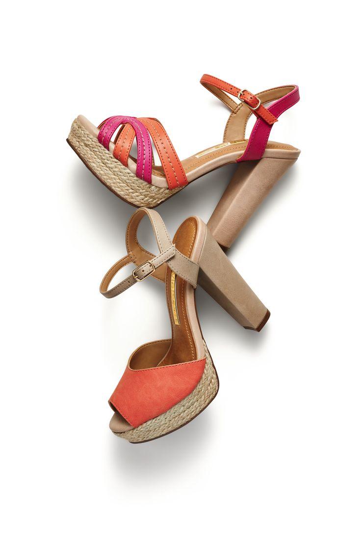 sandálias salto alto - salto grosso - nude- pink - laranja -  high heels - summer shoes - Verão 2015 - Ref. 15-10553   15-10554