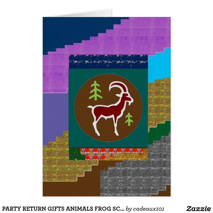 PARTY RETURN GIFTS ANIMALS FROG SCORPIO RAM CARD