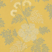Yellow / Grey / Cream - DOPWCO105 - Cowparsley - Sanderson Options 10 Wallpaper - Decor Supplies