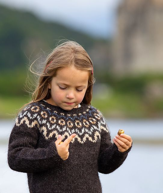 """the printed pattern is part of the North Child KNITTING KIT """"Heima"""", available from https://www.etsy.com/uk/shop/NorthChildTrading ."""