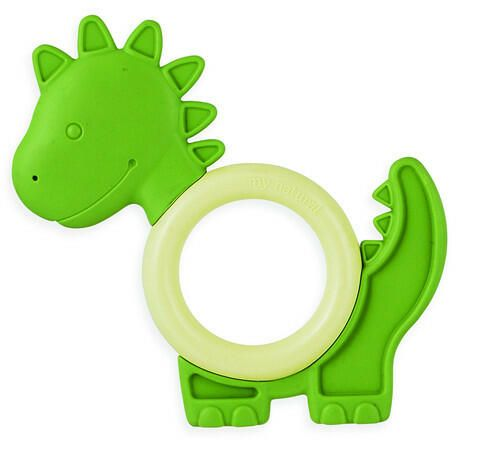 Eco Teether Dinosaur makes a great baby gift. Eco teethers made from corn, potato and sugar cane starch.  Free of BPA, PVC, latex and phthalates, the teethers combine a rubbery material, comforting for chewing and a smooth hard ring. - See more at: http://www.simplygiftsonline.com.au