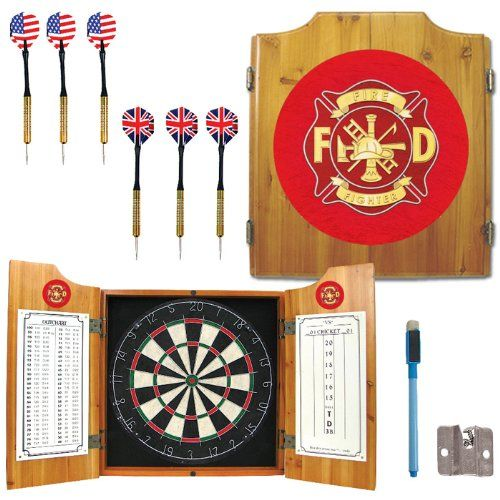 Fire Fighter Dart Cabinet Includes Darts and Board Fire Fighter Dart Cabinet Includes Darts.  Get yours here: http://rcm-na.amazon-adsystem.com/e/cm?lt1=_blank&bc1=000000&IS2=1&bg1=FFFFFF&fc1=000000&lc1=0000FF&t=howecahaital-20&o=1&p=8&l=as4&m=amazon&f=ifr&ref=ss_til&asins=B00C7N7PYW